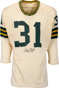 Football Collectibles:Uniforms, 1960-63 Jim Taylor Game Worn & Signed Green Bay Packers Jersey, MEARS A9....
