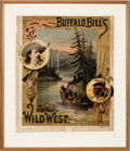"""Entertainment Collectibles:Circus, William F. """"Buffalo Bill"""" Cody: An Extremely Rare Early Wild West Show Poster Design...."""