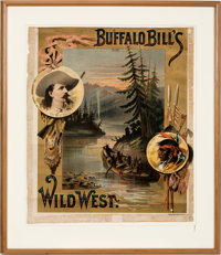 "William F. ""Buffalo Bill"" Cody: An Extremely Rare Early Wild West Show Poster Design"