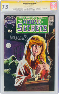 House of Secrets #92 Signature Series: Len Wein (DC, 1971) CGC VF- 7.5 Cream to off-white pages