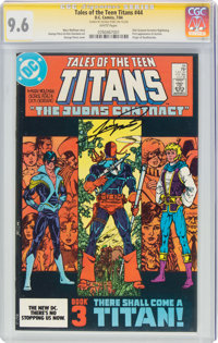 Tales of the Teen Titans #44 Signature Series: George Perez (DC, 1984) CGC NM+ 9.6 White pages