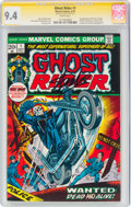 Bronze Age (1970-1979):Superhero, Ghost Rider #1 Signature Series: Stan Lee (Marvel, 1973) CGC NM 9.4 White pages....