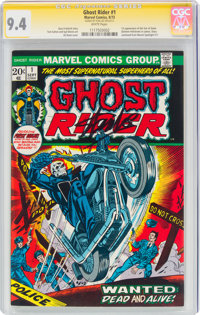 Ghost Rider #1 Signature Series: Stan Lee (Marvel, 1973) CGC NM 9.4 White pages