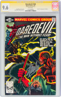 Modern Age (1980-Present):Superhero, Daredevil #168 Signature Series: Stan Lee (Marvel, 1981) CGC NM+ 9.6 White pages....