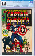 Silver Age (1956-1969):Superhero, Captain America #100 (Marvel, 1968) CGC FN+ 6.5 Off-white to white pages....