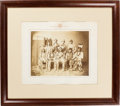 Photography:Studio Portraits, Large Format Albumen Photograph Of Prominent Indian Chiefs....