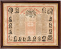 Advertising:Paper Items, Phrenological Almanac 1864 With Illustrations Of Prominent Men And Women....