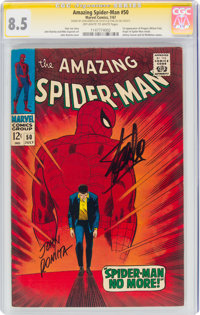 The Amazing Spider-Man #50 Signature Series: John Romita and Stan Lee (Marvel, 1967) CGC VF+ 8.5 Off-white to white page...
