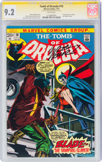 Tomb of Dracula #10 Signature Series: Marv Wolfman (Marvel, 1973) CGC NM- 9.2 White pages
