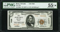 Reno, NV - $5 1929 Ty. 2 First National Bank Ch. # 7038 PMG About Uncirculated 55 EPQ*