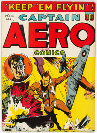 Captain Aero Comics V1#10 (#4) (Holyoke Publications, 1942) Condition: FN