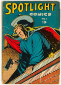 Golden Age (1938-1955):Adventure, Spotlight Comics #1 (Chesler, 1944) Condition: GD....