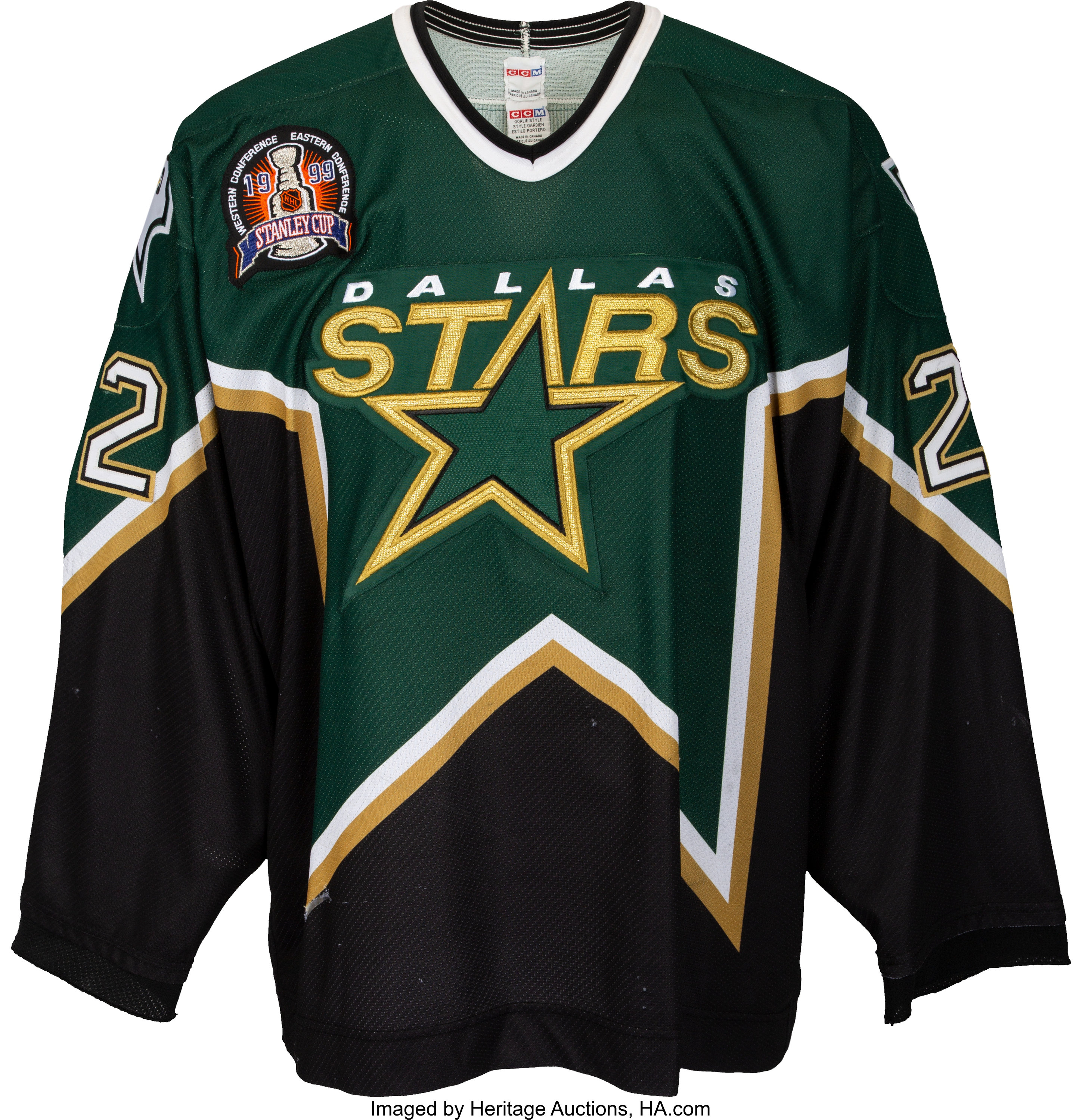 1998 99 Brett Hull Stanley Cup Winning Goal Game Worn Dallas Stars Lot 50124 Heritage Auctions