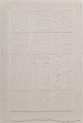 Prints & Multiples, Louise Nevelson (1899-1988). Dawn's Presence (White), 1976. Cast paper relief. 32-1/4 x 21-5/8 inches (81.9 x 54.9 cm) (...