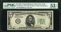 Small Size:Federal Reserve Notes, Fr. 1956-B* $5 1934 Dark Green Seal Mule Federal Reserve Star Note. PMG About Uncirculated 53 EPQ.. ...