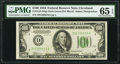 Fr. 2152-D $100 1934 Dark Green Seal Federal Reserve Note. PMG Gem Uncirculated 65 EPQ