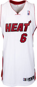 "Basketball Collectibles:Uniforms, 2014 LeBron James Alternate Style ""King James"" Game Worn Miami Heat Jersey--Photo Matched & NBA Letter!..."