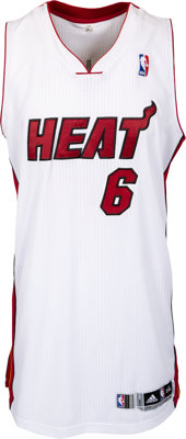 "2014 LeBron James Alternate Style ""King James"" Game Worn Miami Heat Jersey--Photo Matched & NBA Letter!"
