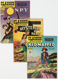 Classics Illustrated Group of 5 (Gilberton, 1947-50) Condition: Average FN.... (Total: 5 Comic Books)