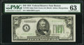 Fr. 2102-A $50 1934 Dark Green Seal Federal Reserve Note. PMG Choice Uncirculated 63