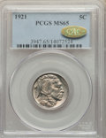 1921 5C MS65 PCGS. Gold CAC. PCGS Population: (298/247). NGC Census: (138/67). CDN: $675 Whsle. Bid for NGC/PCGS MS65. M...