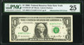 Mismatched Serial Numbers Error Fr. 1932-B* $1 2006 Federal Reserve Star Note. PMG Very Fine 25