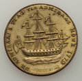 1779 TOKEN Rhode Island Ship Token, No Wreath, Brass, AU Details Uncertified. Betts-562, W-1730, R.4. NGC notes that thi...