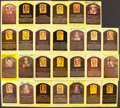 Autographs:Post Cards, Signed Hall of Fame Plaque Postcard Lot of 41....