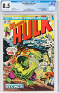 Bronze Age (1970-1979):Superhero, The Incredible Hulk #180 (Marvel, 1974) CGC VF+ 8.5 Off-white to white pages....