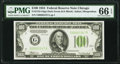 Fr. 2152-G $100 1934 Dark Green Seal Federal Reserve Note. PMG Gem Uncirculated 66 EPQ
