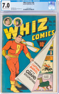 Golden Age (1938-1955):Superhero, Whiz Comics #38 (Fawcett Publications, 1942) CGC FN/VF 7.0 Cream to off-white pages....