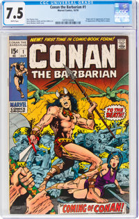 Conan the Barbarian #1 (Marvel, 1970) CGC VF- 7.5 White pages