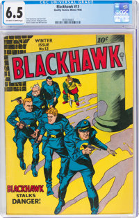 Blackhawk #13 (Quality, 1946) CGC FN+ 6.5 Off-white to white pages