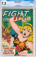 Golden Age (1938-1955):Adventure, Fight Comics #58 (Fiction House, 1948) CGC VF- 7.5 Cream to off-white pages....