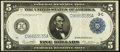 Large Size:Federal Reserve Notes, Fr. 855b $5 1914 Federal Reserve Note Very Fine.. ...
