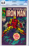 Silver Age (1956-1969):Superhero, Iron Man #1 (Marvel, 1968) CGC FN 6.0 Off-white pages....