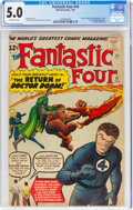 Silver Age (1956-1969):Superhero, Fantastic Four #10 (Marvel, 1963) CGC VG/FN 5.0 Off-white pages....