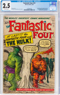 Silver Age (1956-1969):Superhero, Fantastic Four #12 (Marvel, 1963) CGC GD+ 2.5 Off-white pages....