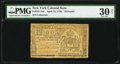 New York April 15, 1758 £10 PMG Very Fine 30 Net