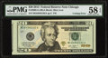 Cutting Error Fr. 2098-G $20 2013 Federal Reserve Note. PMG Choice About Unc 58 EPQ