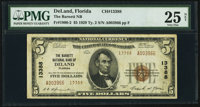 DeLand, FL - $5 1929 Ty. 2 The Barnett National Bank Ch. # 13388 PMG Very Fine 25 Net
