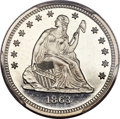 Proof Seated Quarters, 1863 25C PR66 Cameo PCGS. Briggs 4-D....