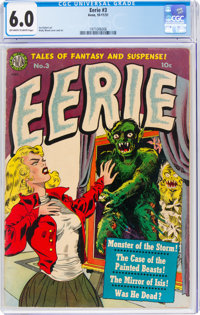 Eerie #3 (Avon, 1951) CGC FN 6.0 Off-white to white pages