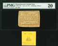 Colonial Notes:Massachusetts, Massachusetts June 18, 1776 5s 4d PMG Very Fine 20.. ... (Total: 2 items)
