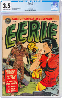 Eerie #5 (Avon, 1952) CGC VG- 3.5 Off-white to white pages
