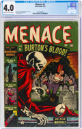 Golden Age (1938-1955):Horror, Menace #2 (Atlas, 1953) CGC VG 4.0 Cream to off-white pages....