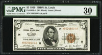 Fr. 1850-H $5 1929 Federal Reserve Bank Note. PMG Very Fine 30