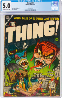 The Thing! #13 (Charlton, 1954) CGC VG/FN 5.0 Off-white to white pages