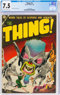 The Thing! #14 (Charlton, 1954) CGC VF- 7.5 Off-white to white pages