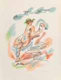 Prints & Multiples, André Masson (1896-1987). L'Amour, 1967. Lithograph in colors on Arches paper. 25-1/2 x 19-1/2 inches (64.8 x 49.5 cm) (...
